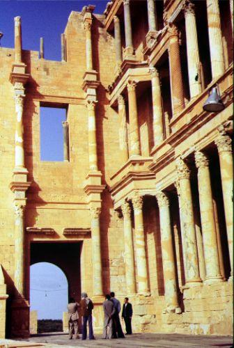 Zdjęcia: Sabratha, trypolitania, w amfiteatrze, LIBIA