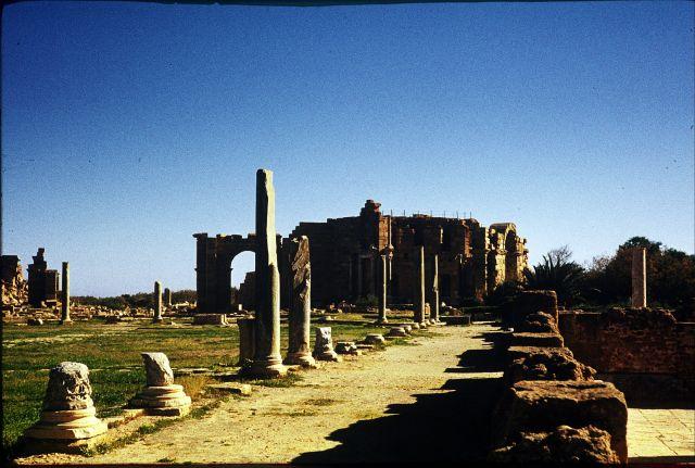 Zdjęcia: Sabratha, trypolitania, widok na teatr, LIBIA