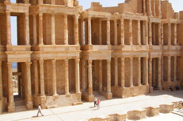 Zdjęcia: Sabratha, ruiny starozytnego miasta i amfiteatru, połnocna LIbia, Sabratha, LIBIA