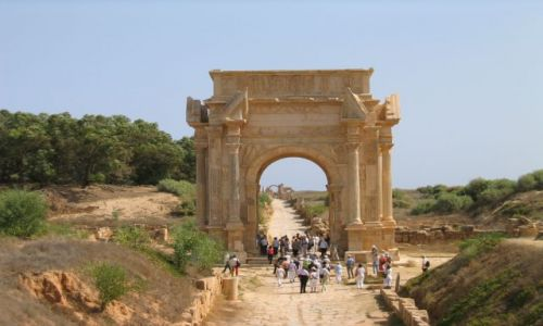 Zdjęcie LIBIA / Leptis Magna / brak / Łuk Septymiusza Sewera