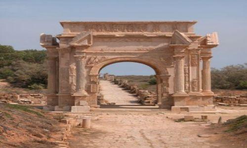 Zdjęcie LIBIA / brak / Leptis Magna / Brama