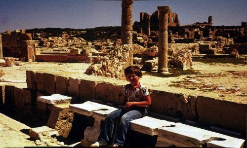 Zdjęcie LIBIA / trypolitania / Laptis Magna / toalety