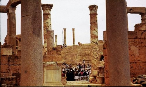 Zdjęcie LIBIA / trypolitania / Sabratha / zebranie