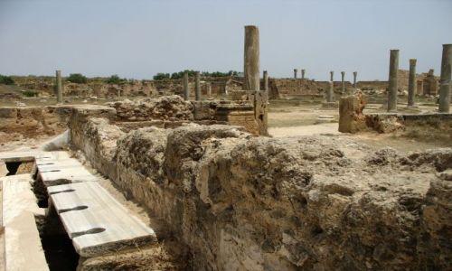 LIBIA / połnocna LIbia / Leptis MAgna / antyczne toalety