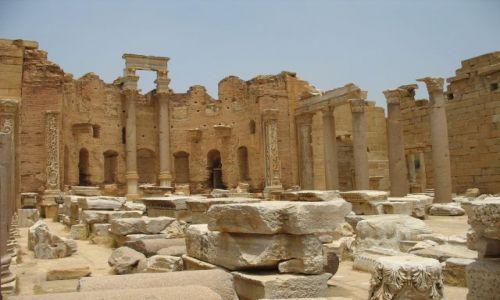 LIBIA / połnocna LIbia / Leptis MAgna / antyczna katedra- pozostałości