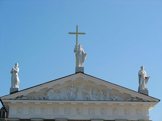 Zdjęcia: Wilno, Święci na katedrze , LITWA