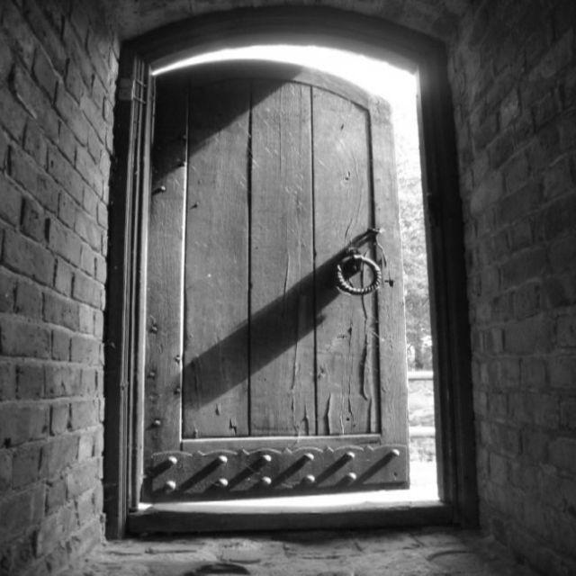 Zdjęcia: troki, drzwi w zamku wl. ks. litewskiego, LITWA