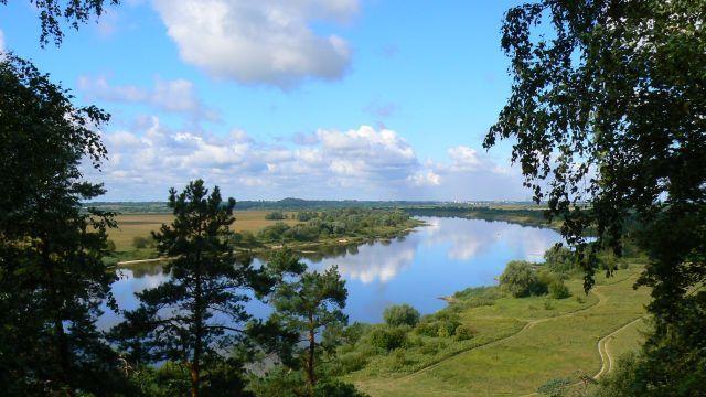 Zdjęcia: Jurbarkas, Dolina Niemna, Widok na Niemen z punktu widokowego w okolicach Jurbarkas, LITWA