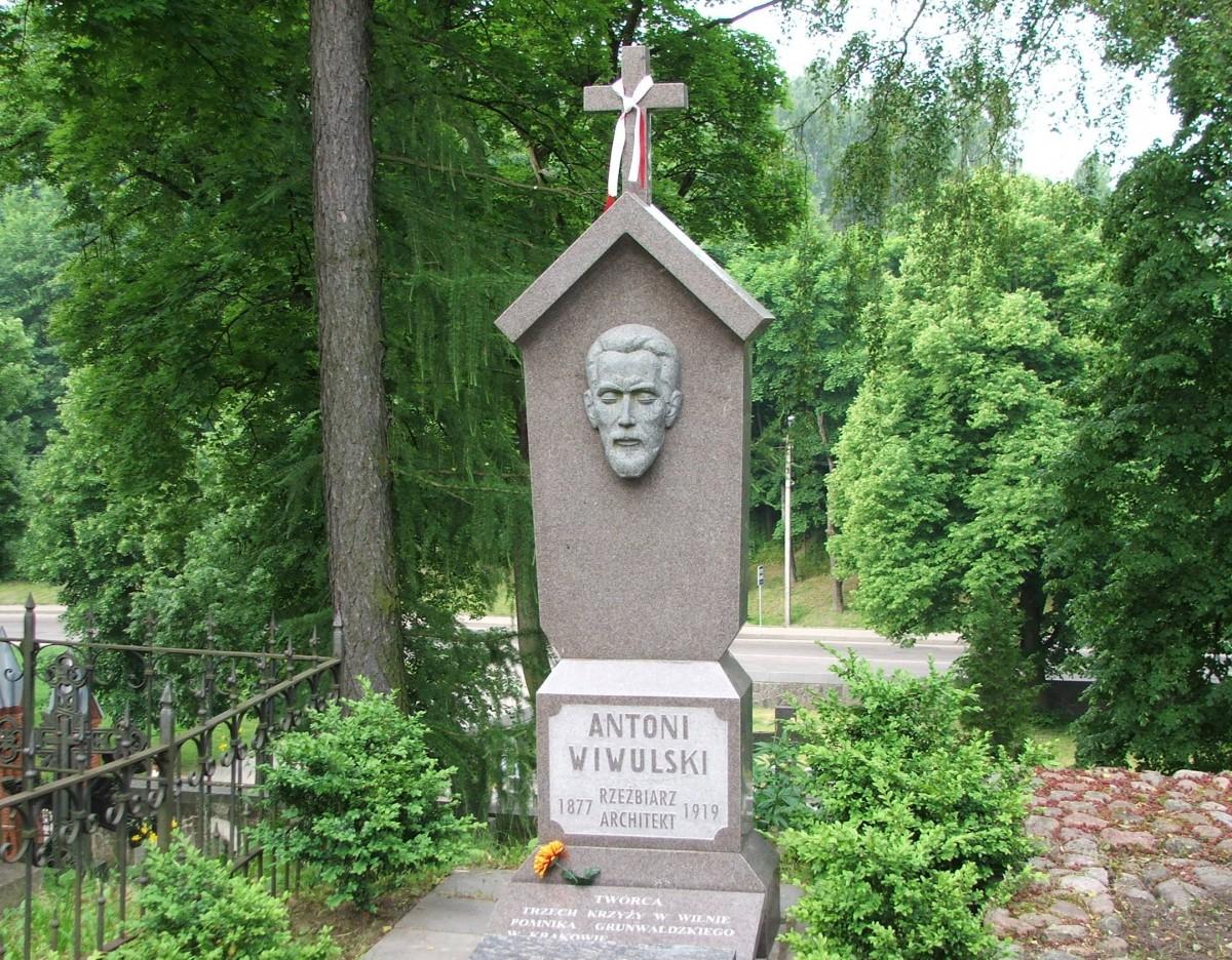 Zdjęcia: Wilno, Cmentarz na Rossie, Grób Antoniego Wiwulskiego, LITWA