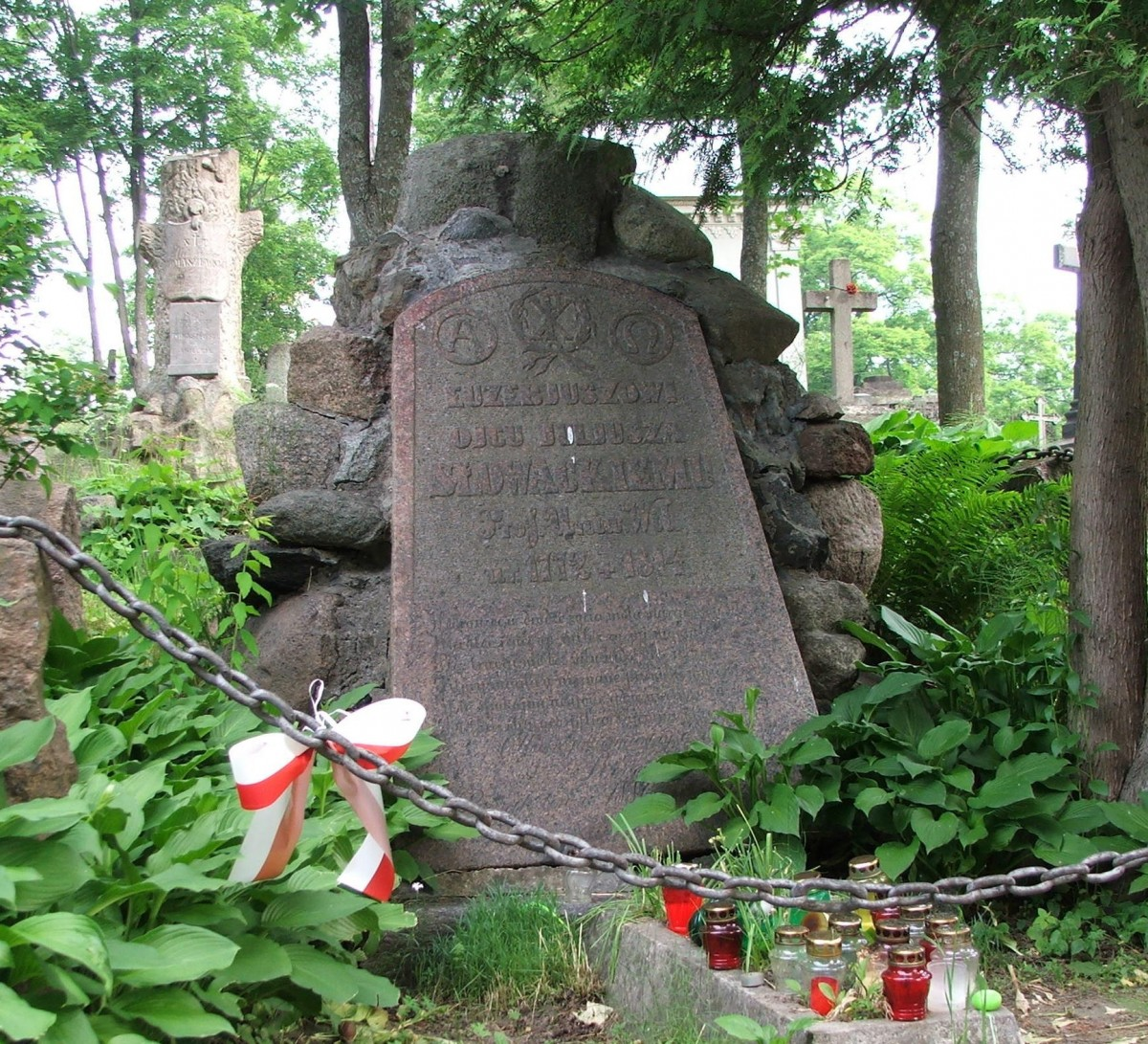 Zdjęcia: Wilno, Cmentarz na Rossie, Grób ojca Juliusza Słowackiego, LITWA