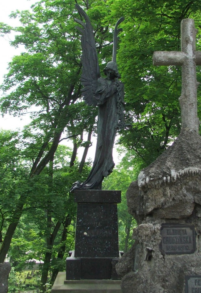 Zdjęcia: Wilno, Cmentarz na Rossie, Czarny Anioł, LITWA
