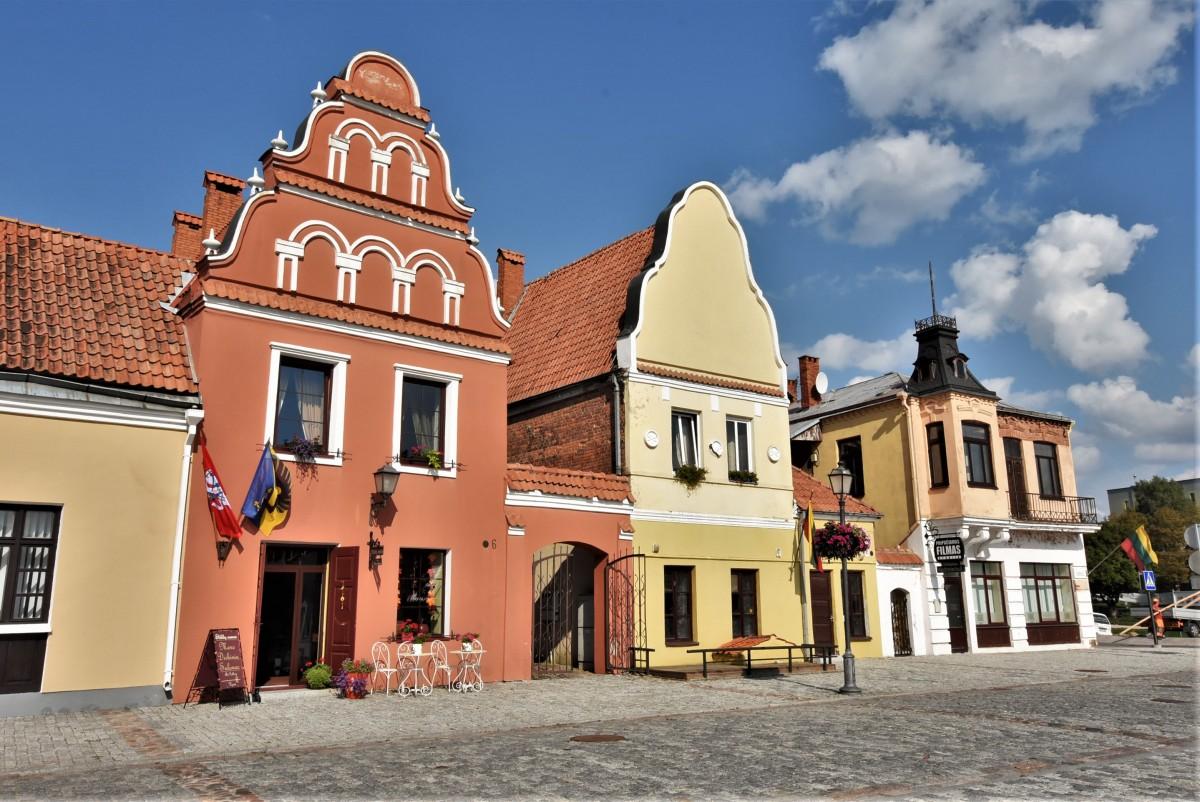 Zdjęcia: Kiejdany, Nizina Środkowolitewska, Kiejdany, kamienice, LITWA