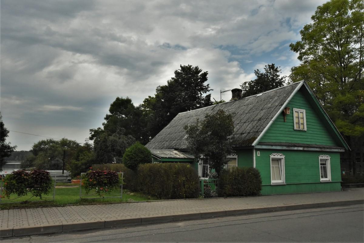 Zdjęcia: Troki, Pojezierze Wileńskie, Troki, domy karaimskie, LITWA