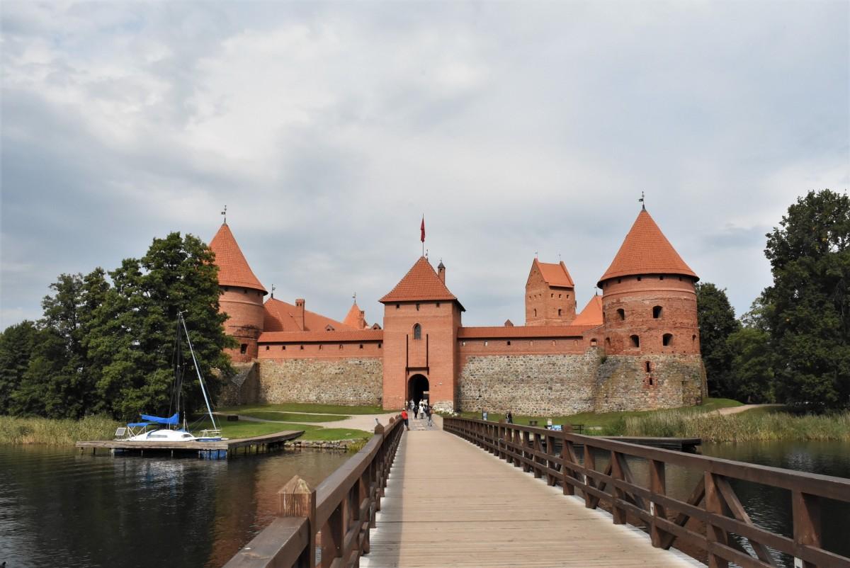 Zdjęcia: Troki, Pojezierze Wileńskie, Troki, zrekonstruowany zamek wielkiego księcia, LITWA
