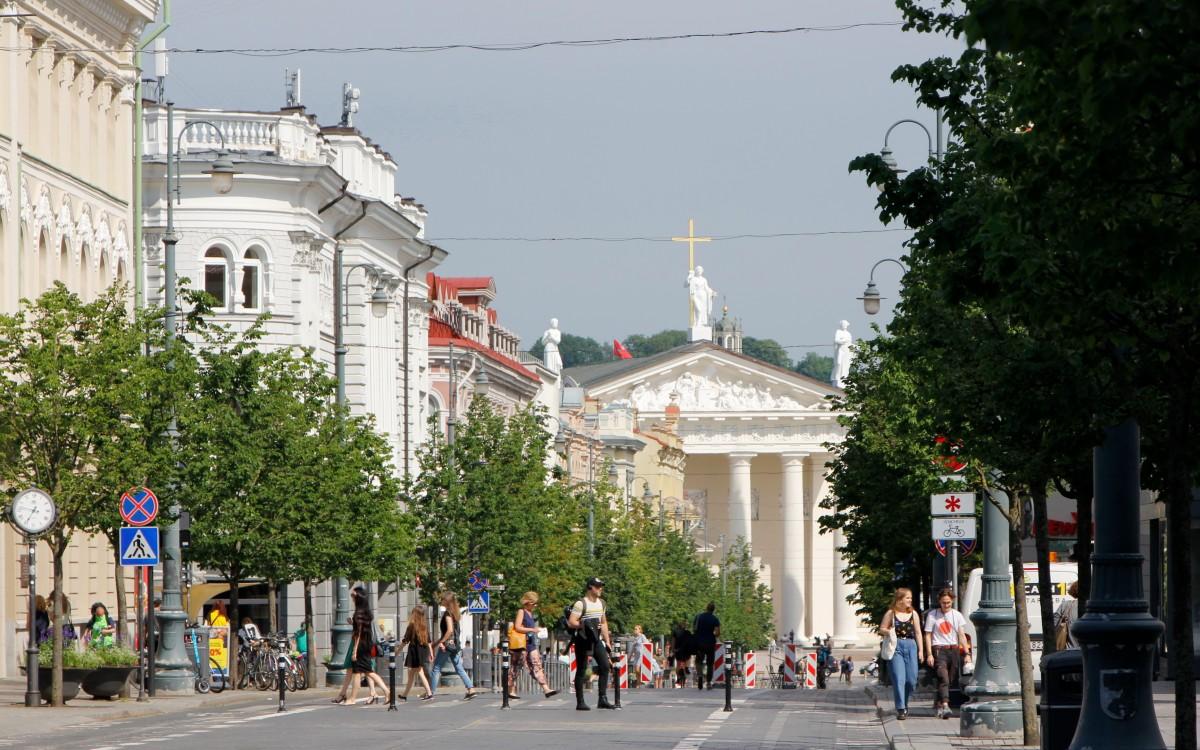 Zdjęcia: Wilno, Prospekt Giedymina w Wilnie, LITWA