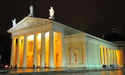 Zdjecie LITWA / Wilno / Plac Litewski / Katedra