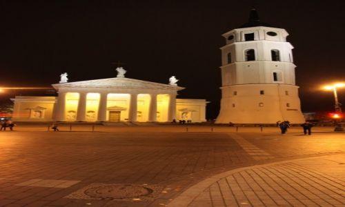 Zdjecie LITWA / Wilno / Wilno / Katedra w Wilnie nocą