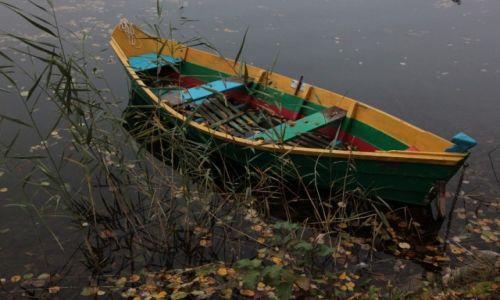 Zdjecie LITWA / Wilno / Troki (Trakai),  jezioro Galvė / Zapomniana łódka
