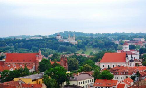 Zdjecie LITWA / okręg wileński / Wilno / Wileńskie kościoły (widziane ze wzgórza Gedymina)