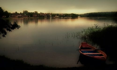 Zdjęcie LITWA / Troki / jezioro Galve / Łódeczka