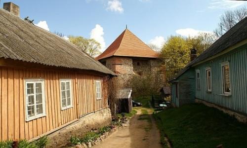 Zdjęcie LITWA / okolice Wilna / Troki / architektura karaimska