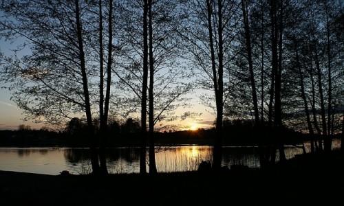 Zdjęcie LITWA / okolice Wilna / Troki / zachód słońca nad jeziorem Głowno