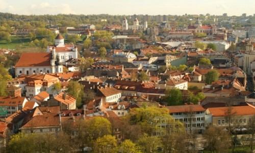 Zdjęcie LITWA / WIlno / Wilno / panorama miasta ze wzgórza Gedymina