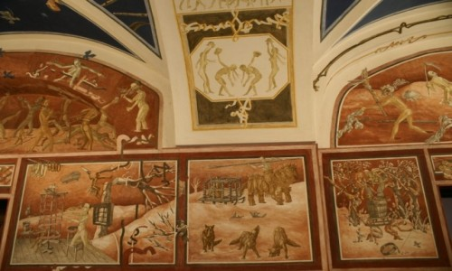 Zdjecie LITWA / WIlno / Uniwersytet Wile�ski / freski na wydzi