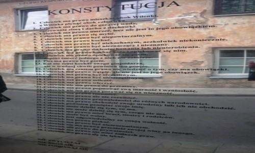 Zdjęcie LITWA / rejon Wileński / Republika Zarzecza / Konstytucja Republiki Zarzecza