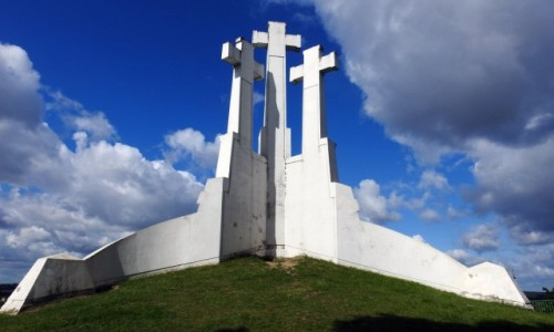 Zdjęcie LITWA / Wilno / Wilno / Trzy Krzyżę