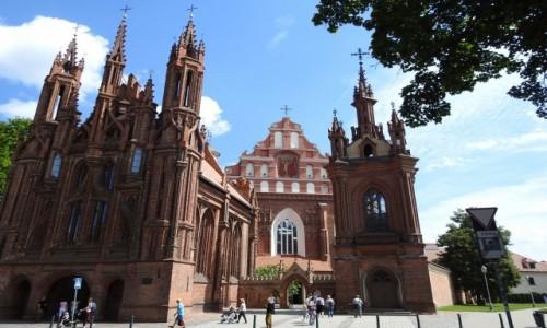 Zdjęcie LITWA / Wilno / Wilno / Kośćioły św.  Anny i Bernardynów