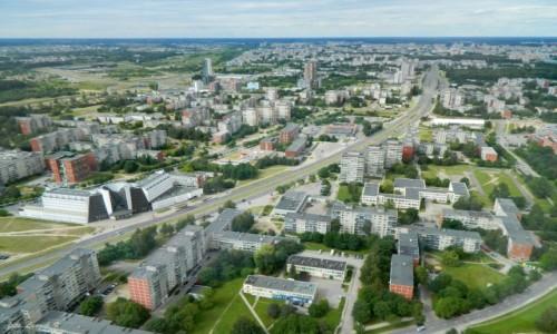Zdjecie LITWA / Wilno. / Wieża telewizyjna. / Wilno - widok z wieży telewizyjnej.