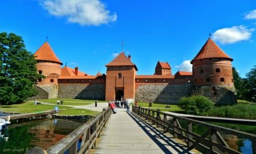 Zdjecie LITWA / Pojezierze Wileńskie. / Jezioro Galwe. / Troki - Zamek.