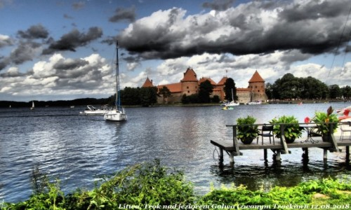LITWA / - / Litwa, Troki, Jezioro Galwe zwane  jeziorem Trockim / Zamek