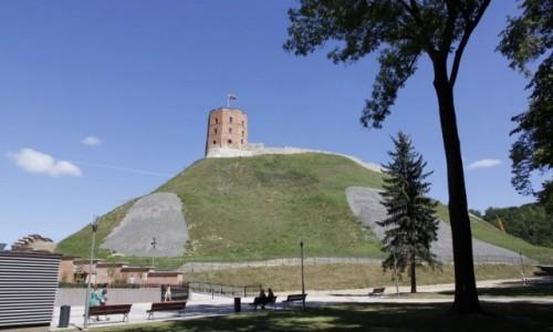 Zdjęcie LITWA / - / Wilno / Wilno - Wzgórze Giedymina bez drzew