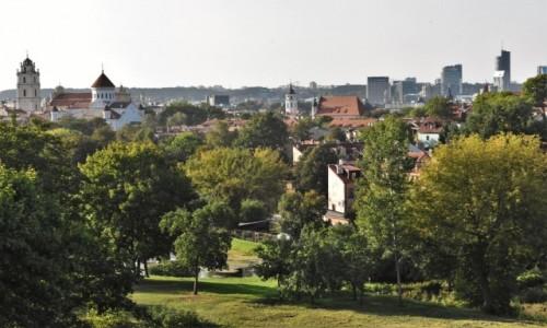 Zdjecie LITWA / Pojezierze Wileńskie / Wilno / Wilno, panorama