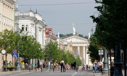 LITWA / - / Wilno / Prospekt Giedymina w Wilnie
