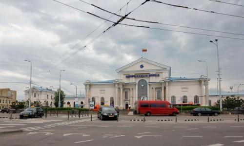 Zdjecie LITWA / - / Wilno / Dworzec kolejowy w Wilnie