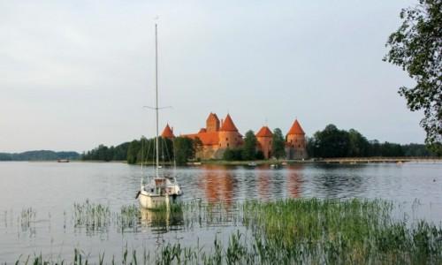Zdjecie LITWA / - / Troki / Zamek w Trokach na Jeziorze Galwe