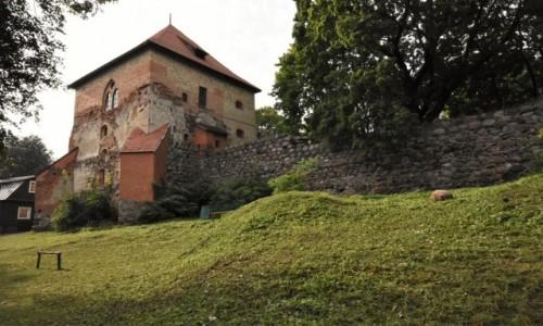 Zdjecie LITWA / Pojezierze Wileńskie / Troki / Troki, zamek, ruiny