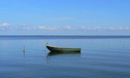 LITWA / Mierzeja Kurońska / Nida / Widok na Zatokę Kurońską z promenady w Nidzie