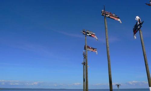 LITWA / Nida / Nida / Vetrunge - ozdobne tabliczki stosowane dawmniej w oznaczaniu łowisk i łodzi na Zat. Kurońskiej