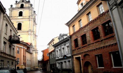 Zdjęcie LITWA / Wilno / Stare Miasto- Dzielnica Żydowska / jesienne Wilno- jedna z uliczek