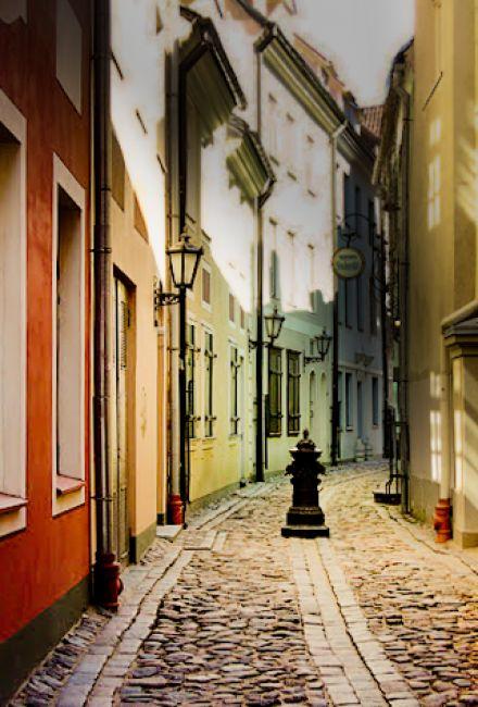 Zdjęcia: Ryga, Kolorowe ulice, ŁOTWA