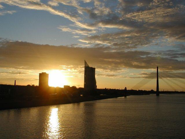 Zdjęcia: Ryga, zachód słońca w Rydze, ŁOTWA