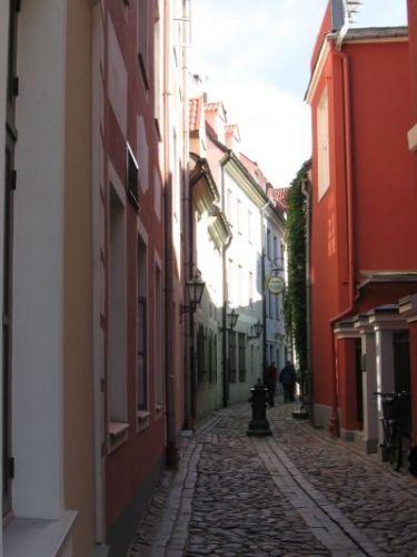 Zdjęcia: ryga, wąska uliczka, ŁOTWA