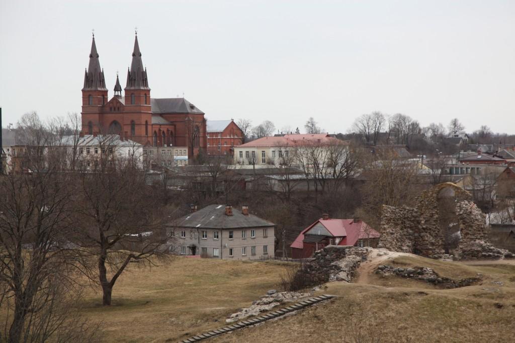 Zdjęcia: Rzeczyca(Rezekne), Łatgalia, Góra zamkowa w Rzeczycy, ŁOTWA