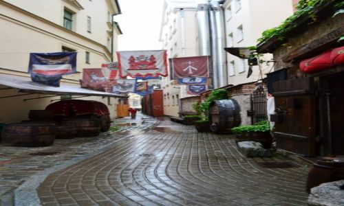 ŁOTWA / Kurlandia / Ryga / W wąskich uliczkach....