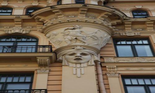 ŁOTWA / Ryga / Art Nouveau / Maszkaron