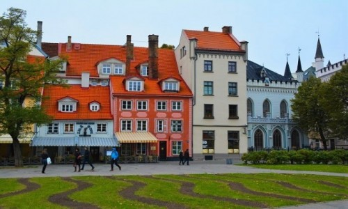 Zdjecie ŁOTWA / Ryga / Ryga / Kamienice w w R